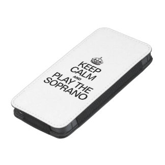 KEEP CALM AND PLAY THE SOPRANO iPhone 5 POUCH