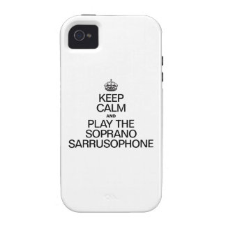 KEEP CALM AND PLAY THE SOPRANO SARRUSOPHONE Case-Mate iPhone 4 CASES