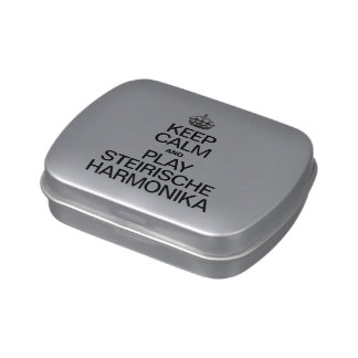 KEEP CALM AND PLAY THE STEIRISCHE HARMONIKA JELLY BELLY CANDY TINS