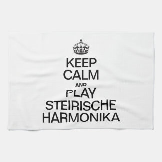 KEEP CALM AND PLAY THE STEIRISCHE HARMONIKA KITCHEN TOWELS