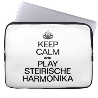 KEEP CALM AND PLAY THE STEIRISCHE HARMONIKA LAPTOP COMPUTER SLEEVES