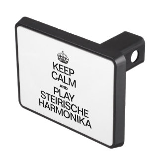 KEEP CALM AND PLAY THE STEIRISCHE HARMONIKA TRAILER HITCH COVERS