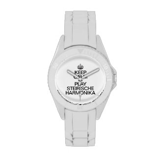 KEEP CALM AND PLAY THE STEIRISCHE HARMONIKA WRIST WATCHES