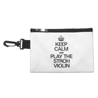 KEEP CALM AND PLAY THE STROH VIOLIN ACCESSORY BAGS