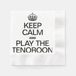 KEEP CALM AND PLAY THE TENOROON COINED COCKTAIL NAPKIN