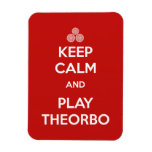 Keep Calm and Play the Theorbo Rectangular Magnets