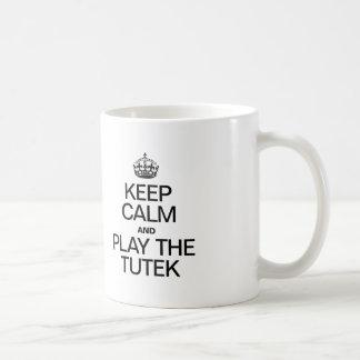 KEEP CALM AND PLAY THE TUTEK CLASSIC WHITE COFFEE MUG