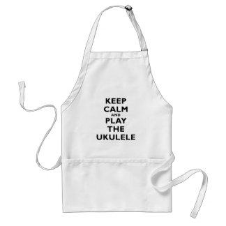 Keep Calm and Play the Ukulele Adult Apron