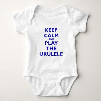 Keep Calm and Play the Ukulele Baby Bodysuit