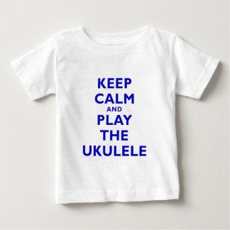 Keep Calm and Play the Ukulele Baby T-Shirt
