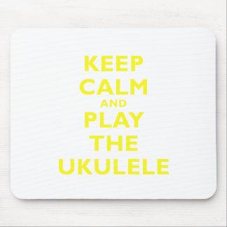 Keep Calm and Play the Ukulele Mouse Pad