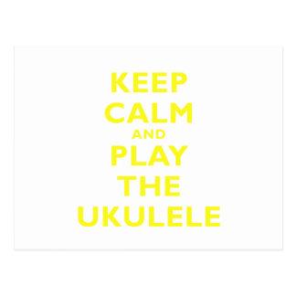 Keep Calm and Play the Ukulele Postcard