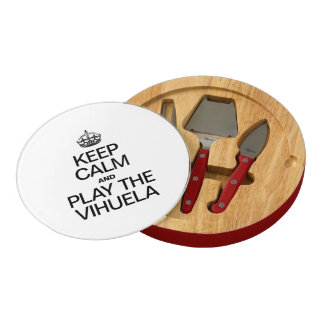 KEEP CALM AND PLAY THE VIHUELA ROUND CHEESE BOARD