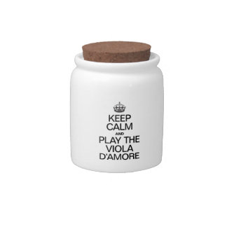 KEEP CALM AND PLAY THE VIOLA D'AMORE CANDY JARS