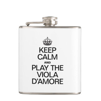 KEEP CALM AND PLAY THE VIOLA D'AMORE FLASK