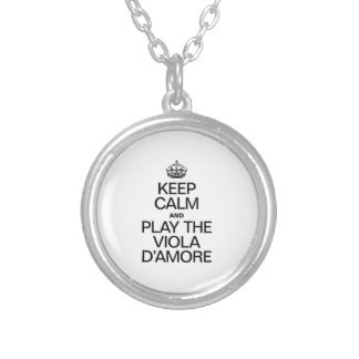 KEEP CALM AND PLAY THE VIOLA D'AMORE NECKLACE