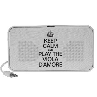 KEEP CALM AND PLAY THE VIOLA D'AMORE TRAVEL SPEAKERS
