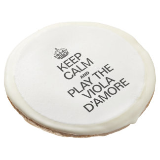 KEEP CALM AND PLAY THE VIOLA D'AMORE SUGAR COOKIE