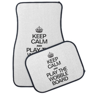 KEEP CALM AND PLAY THE WOBBLE BOARD FLOOR MAT