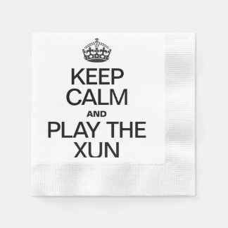 KEEP CALM AND PLAY THE XUN COINED COCKTAIL NAPKIN