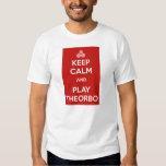 Keep calm and play theorbo playeras