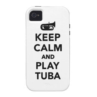 Keep calm and Play Tuba Vibe iPhone 4 Case