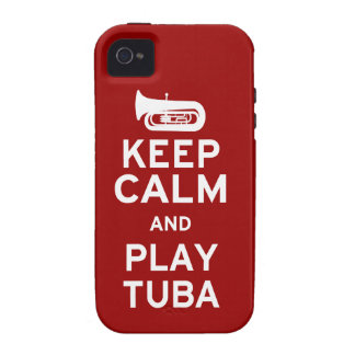 Keep Calm and Play Tuba iPhone 4/4S Case