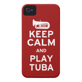 Keep Calm and Play Tuba iPhone 4 Cover