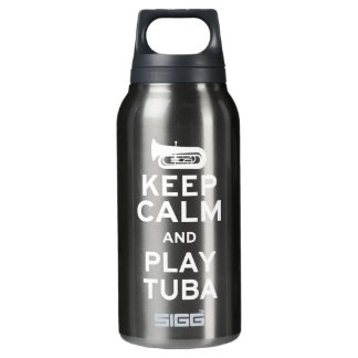 Keep Calm and Play Tuba Insulated Water Bottle