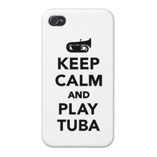 Keep calm and Play Tuba iPhone 4 Covers