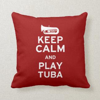 Keep Calm and Play Tuba Throw Pillow