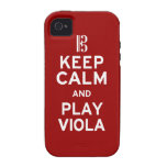Keep Calm and Play Viola Case-Mate iPhone 4 Covers