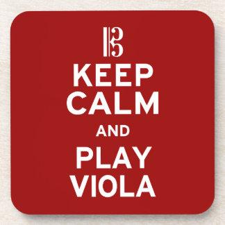Keep Calm and Play Viola Coaster