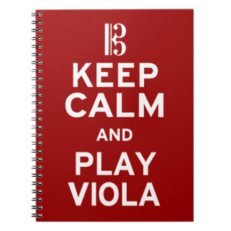 Keep Calm and Play Viola Spiral Notebooks