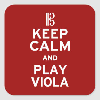 Keep Calm and Play Viola Square Sticker