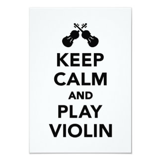 Keep calm and play violin personalized announcement