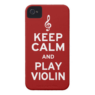 Keep Calm and Play Violin iPhone 4 Cover