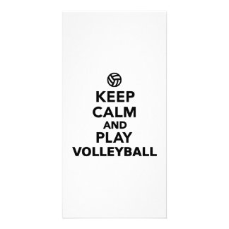 Keep calm and play Volleyball Card
