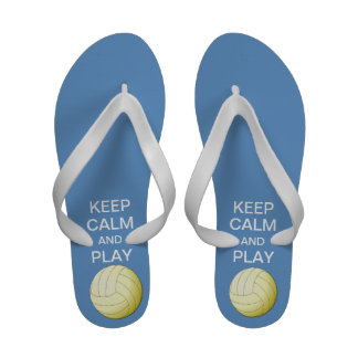 Keep Calm and Play Volleyball Flip Flops