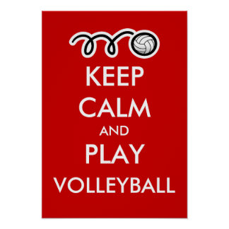 Keep calm and play volleyball | Fun sports poster