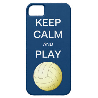 KEEP CALM AND PLAY VOLLEYBALL iPhone 5 Case