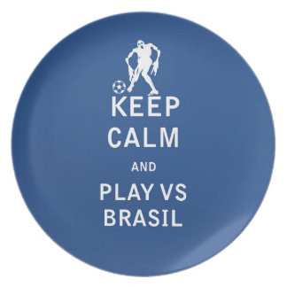 Keep Calm and Play Vs Brasil (zombie) Plates