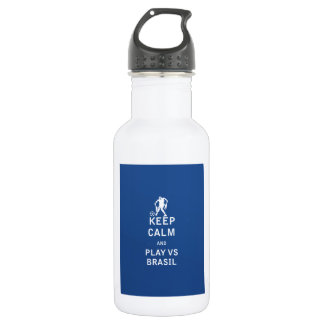Keep Calm and Play Vs Brasil (zombie) Water Bottle