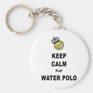 Keep Calm and Play Water Polo Products Basic Round Button Keychain