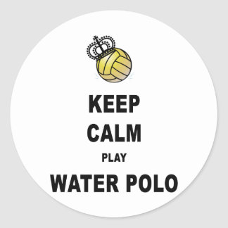 Keep Calm and Play Water Polo Products Classic Round Sticker