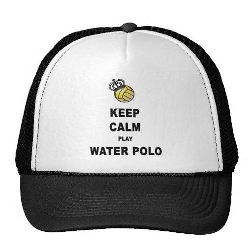 Keep Calm and Play Water Polo Products Trucker Hats