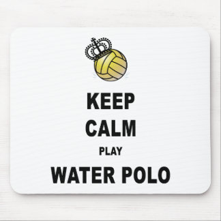 Keep Calm and Play Water Polo Products Mouse Pad