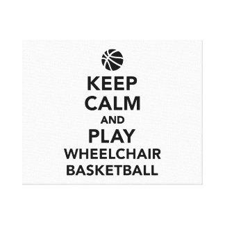 Keep calm and play wheelchair basketball canvas print