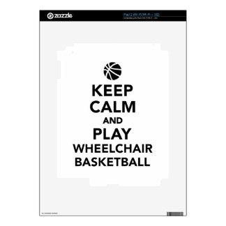 Keep calm and play wheelchair basketball iPad 2 skin