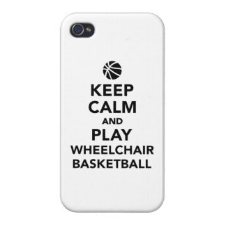 Keep calm and play wheelchair basketball iPhone 4 covers
